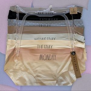 RAE DUNN DAYS OF THE WEEK NO SHOW HIPSTERS PANTIES